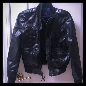 Faux leather moto jacket - super cute